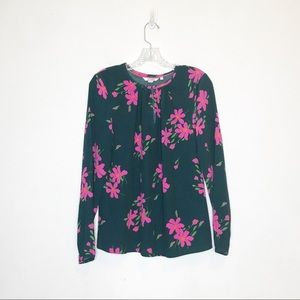 Boden Green Floral Blouse